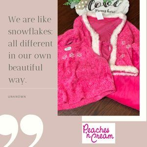 Peaches 'n Cream Pink Snowflake Pant Set